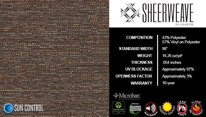 SheerWeave 5000 Bark Sienna