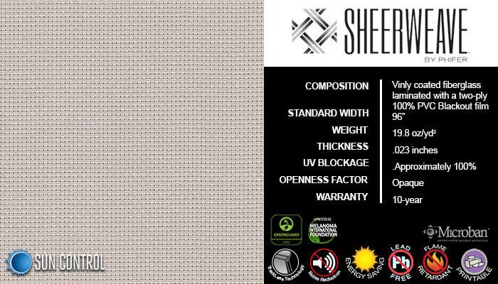 SheerWeave Blackout 7100 Bone