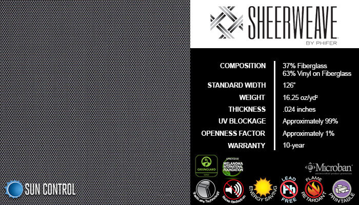SheerWeave 2500 Charcoal Gray