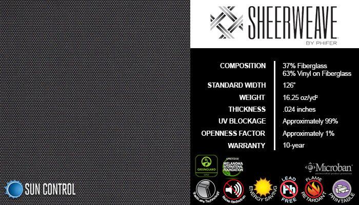SheerWeave 2500 Charcoal