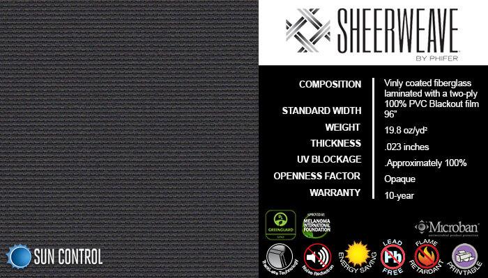 SheerWeave Blackout 7100 Charcoal