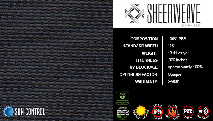 SheerWeave Blackout 7000 Onyx