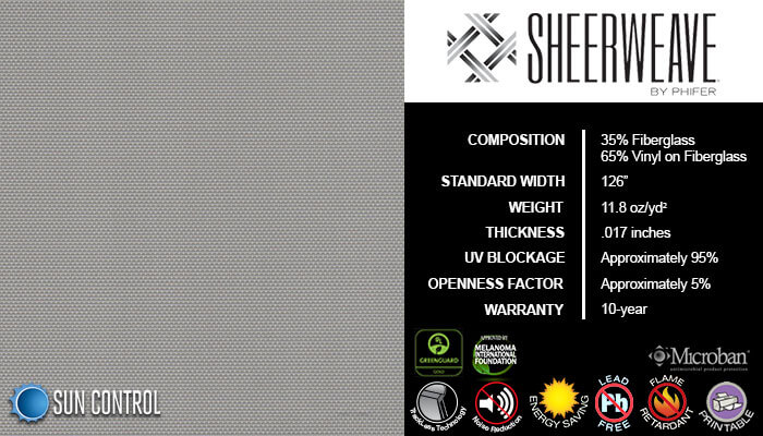 SheerWeave 2390 Pearl Gray