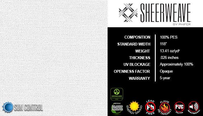 SheerWeave Blackout 7000 White
