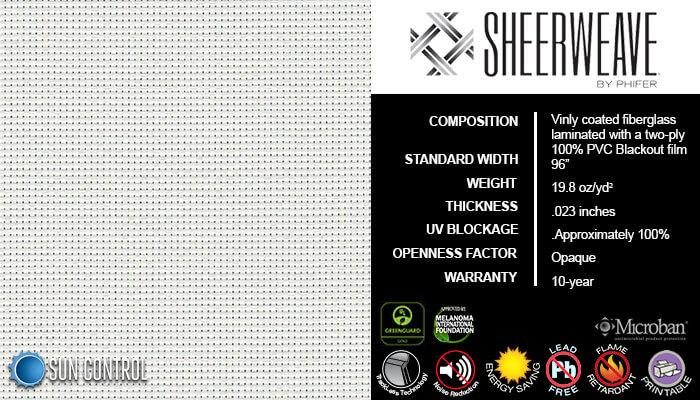 SheerWeave Blackout 7100 White